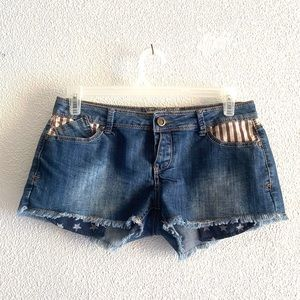 Hot kiss Cici denim shorts stars & stripes size 11
